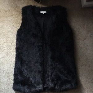 Jackets & Blazers - Black Fur Vest